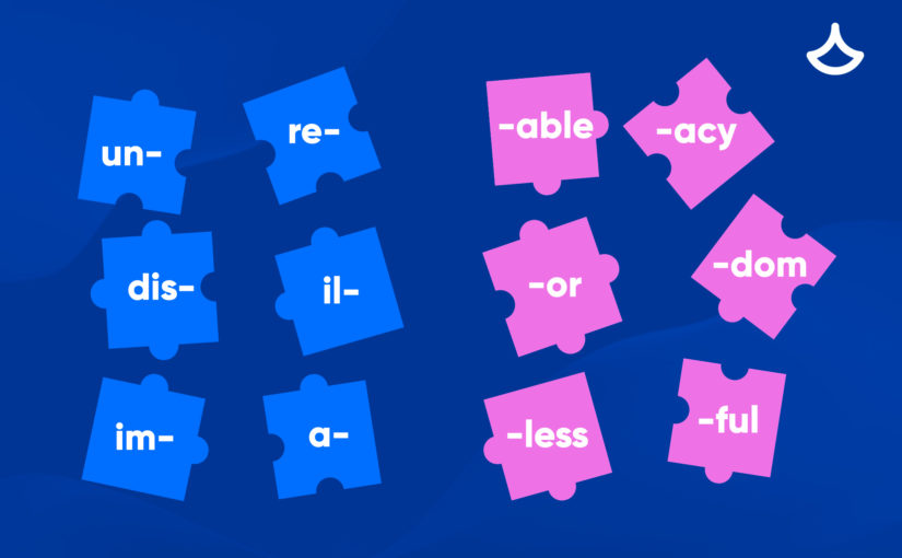 Словообразование в английском:  таблица английских суффиксов и префиксов